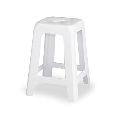 White Stacking Stool