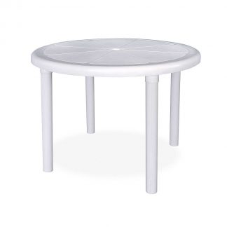 White Round Sorrento Table
